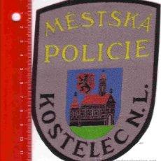 Militaria: PARCHE POLICÍA. POLICIA KOSTELEC N L (REPUBLICA CHECA). Lote 26968191