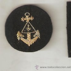 Militaria: DISTINTIVO ARMADA BORDADO A MANO EN CANUTILLO ORO. Lote 36160217