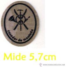 Militaria: PARCHE EMBLEMA MILITAR EJERCITO MILITAR MONTAÑA E M M O E CAZADOR DE MONTAÑA MIDE 5,6CM AAA. Lote 65243638