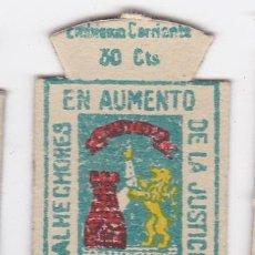 Militaria: AUXILIO SOCIAL. EMBLEMA CORRIENTE. 30 CTS. SERIE B, Nº 300. ESCUDO DE ALAVA. Lote 140209644