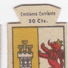 Militaria: AUXILIO SOCIAL. EMBLEMA CORRIENTE. 30 CTS. SERIE B, Nº 283. ESCUDO DE CACERES.. Lote 41087010