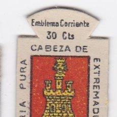 Militaria: AUXILIO SOCIAL. EMBLEMA CORRIENTE. 30 CTS. SERIE B, Nº 296. ESCUDO DE SORIA.. Lote 142396217