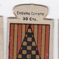 Militaria: AUXILIO SOCIAL. EMBLEMA CORRIENTE. 30 CTS. SERIE B, Nº 36. ESCUDO DEL CONDADO DE URGEL.. Lote 42217871