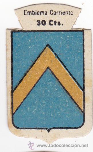 AUXILIO SOCIAL. EMBLEMA CORRIENTE. 30 CTS. SERIE B, Nº 114. ESCUDO DE LLUCH, (ESCORCA), MALLORCA. (Militar - Parches de tela )