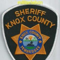 Militaria: INSIGNIA DE TELA DE POLICÍA DE LOS ESTADOS UNIDOS. SHERIFF KNOX COUNTY. TENNESSEE.. Lote 39626227