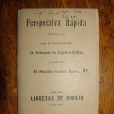 Militaria: CUADERNO DE PERSPECTIVA RÁPIDA - LIBRETAS DE DIBUJO ( MILÉSIMA) TOLEDO 1910 - . Lote 40297708