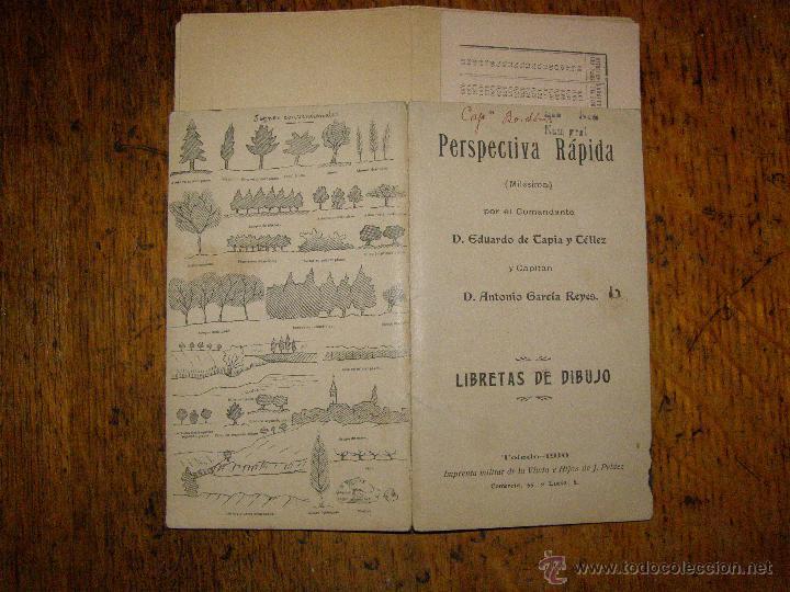 Militaria: Cuaderno de perspectiva rápida - Libretas de Dibujo ( Milésima) Toledo 1910 - - Foto 3 - 40297708