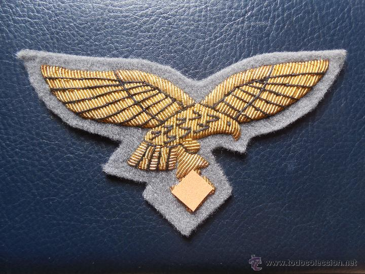 AGUILA DE PECHO DE LA LUFTWAFFE PARA GERERALES (HILO DE ORO). (Militar - Parches de tela )