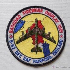 Militaria: PARCHE DE TELA DE TRIPULANTE DE B52 EN LA 1ª GUERRA DEL GOLFO. USAF.. Lote 104007191