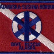 Militaria: PARCHE EMBLEMA ESCUDO POLICIA USA ALASKA MATANUSKA DIVER DIVERS SUBMARINISTA . Lote 41432918