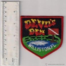 Militaria: PARCHE EMBLEMA ESCUDO POLICIA BOMBERO DEVILS DEN WILLSTON FL POLICE SCUBA TEAM SUBMARINISTA . Lote 41433128