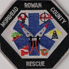 Militaria: PARCHE EMBLEMA ESCUDO BOMBERO BOMBEROS MOREHEAD ROWAN COUNTY SCUBA SUBMARINISTA . Lote 41433337