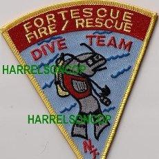 Militaria: PARCHE EMBLEMA ESCUDO BOMBERO BOMBEROS FORTESCUE FIRE RESCUE DIVER SCUBA SUBMARINISTA . Lote 41433468