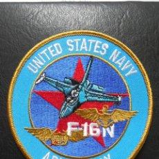 Militaria: PARCHE DE TELA DE PILOTO DE F16N ADVERSARY DE LA US NAVY.. Lote 144193416