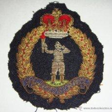 Militaria: ANTIGUO PARCHE MILITAR. 2ª GUERRA MUNDIAL. ROYAL OBSERVER CORPS. BORDADO CON HILO DE ORO Y PLATA.. Lote 43569869
