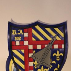 Militaria: EMBLEMA - PARCHE DE TELA B.A. 102 (PLÁSTICO). Lote 46289871