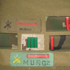 Militaria: LOTE DE PARCHES Y GALONES DE LA LEGION. Lote 46299379