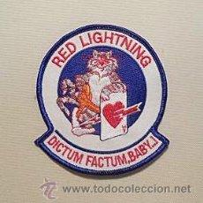 Militaria: PARCHE DE TELA DE PILOTO DE LOS RED LIGHTNING DE LA US NAVY. Lote 104007255