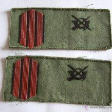 Militaria: 2 PARCHES DE PECHO EN TELA - CON ESCUDO O EMBLEMA INFANTERIA - 12X5. Lote 47271164