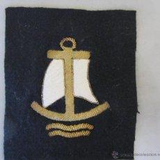 Militaria: PARCHE DE INSPIRACIÓN MILITAR TEMA NAVAL DE MANGA, BORDADO SOBRE FIELTRO HILOS DE ORO. Lote 47380696