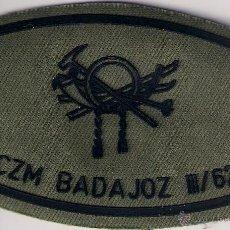 Militaria: PARCHE EMBLEMA POLICIA MILITAR BCZM BADAJOZ II / 62 MONTAÑA BATALLON CAZADORES MONTAÑA AAA. Lote 47624306