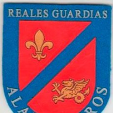 Militaria: PARCHE EMBLEMA GUARDIA REAL NUEVO MOD REY FELIPE VI REALES GUARDIAS ALABARDEROS AAA. Lote 48278789