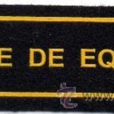 Militaria: PARCHE DE BOMBEROS JEFE DE EQUIPO. Lote 289396408
