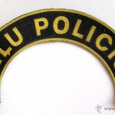Militaria: ETIQUETA DE UNIFORME DE POLICIA DE TRAFICO DE LETONIA. Lote 48465616
