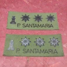 Militaria: 2 PARCHE DE TELA DE INGENIEROS P. SANTAMARIA MILITAR. Lote 49789611