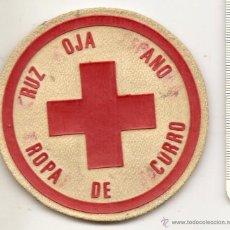 Militaria: CRUZ ROJA ESPAÑOLA. ANTIGUO PARCHE. TROPAS DE SOCORRO. Lote 50027019