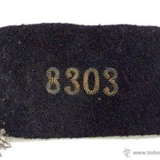 Militaria: PARCHE DE NUMEROS BORDADOS , ALFONSO XIII - REPÚBLICA. Lote 51015551
