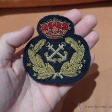 Militaria: ANTIGUA GALLETA DE GORRA DE PLATO DE MARINA ESPAÑOLA. Lote 52696872