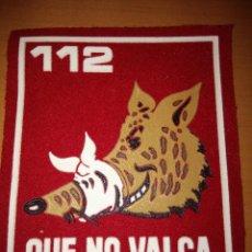 Militaria: PARCHE ESCUDO BRAZO 112 QUE NO VALGA CREADO EN OCTUBRE 1971. Lote 55108144