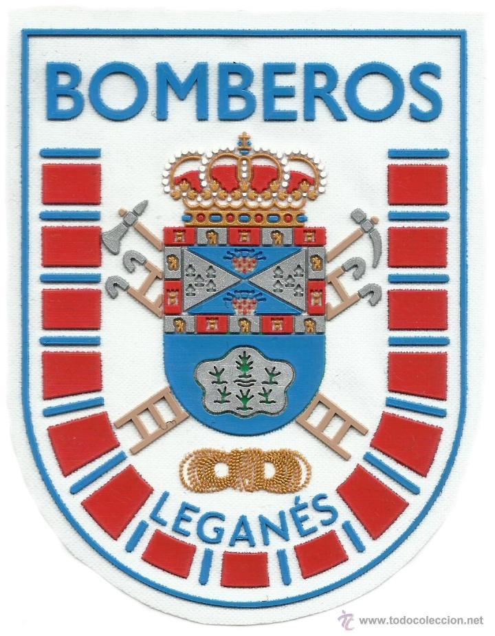 BOMBEROS DE LEGANES - MADRID - FIRE DEPT OF LEGANES MADRID - EB01069 MODELO BLANCO - WHITE MODEL (Militar - Parches de tela )