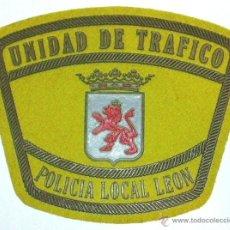Militaria: PARCHE POLICIA LOCAL DE LEON UNIDAD DE TRAFICO. Lote 252101615