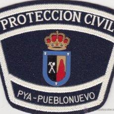 Militaria: PARCHE EMBLEMA PROTECCION CIVIL PEÑARROYA - PUEBLONUEVO MUY ANTIGUO CÓRDOBA ANDALUCIA. Lote 208669897