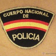 Militaria: EMBLEMA DE BRAZO GENERICO BORDADO DEL CUERPO NACIONAL DE POLICIA (FONDO NEGRO RECORTADO). Lote 98610634