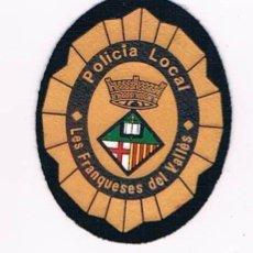 Militaria: PARCHE EMBLEMA ESCUDO POLICIA LOCAL LES FRANQUESES DEL VALLÉS CATALUÑA. Lote 55838466