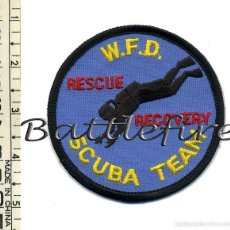 Militaria: W.F.D. SCUBA TEAM RESCUE RECOVERY - USA - PARCHE BOMBEROS - GRUPO INMERSIÓN - SUBACUÁTICA. Lote 57344458