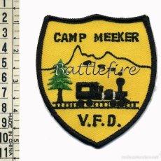 Militaria: CAMP MEEKER VOLUNTEER FIRE DEPARTMENT - CALIFORNIA - USA - BOMBEROS - PARCHE. Lote 57344879