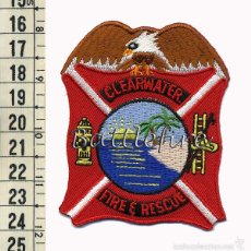 Militaria: CLEARWATER FIRE & RESCUE - FLORIDA - USA - BOMBEROS - PARCHE. Lote 57345112