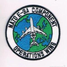 Militaria: PARCHE MILITAR ORIGINAL NATO E-3A COMPONENT OPERATIONS WING. Lote 57365326