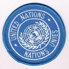 Militaria: PARCHE MILITAR ORIGINAL UNITED NATIONS NATIONS UNITES. Lote 57365463