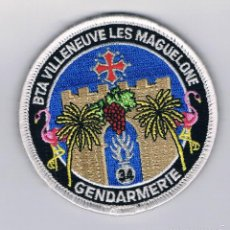 Militaria: PARCHE MILITAR ORIGINAL BTA VILLENEUVE LES MAGUELONE GENDARMERIE. Lote 57365522