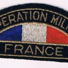 Militaria: PARCHE MILITAR ORIGINAL COOPERATION MILITAIRE FRANCE. Lote 57365799