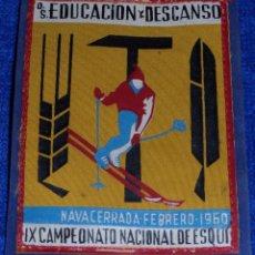 Militaria: IX CAMPEONATO NACIONAL DE ESQUÍ - EDUCACIÓN Y DESCANSO - NAVACERRADA 1960. Lote 57746943