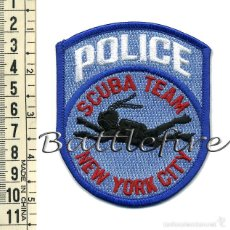 Militaria: NEW YORK CITY POLICE SCUBA TEAM - USA - PARCHE POLICÍA - GRUPO INMERSIÓN - SUBACUÁTICA. Lote 57767113
