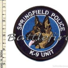 Militaria: PARCHE UNIDAD CANINA K9 - POLICIA SPRINGFIELD - USA - PERROS - POLICIAS. Lote 58756812