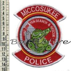 Militaria: PARCHE UNIDAD DE BUCEO - POLICIA DE MICCOSUKEE - USA - BUSQUEDA Y SALVAMENTO - POLICIAS - BUZOS. Lote 58757683