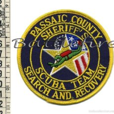 Militaria: PASSAIC COUNTY SHERIFF'S SCUBA TEAM SEARCH AND RESCOVERY - USA - PARCHE POLICÍA - GRUPO INMERSIÓN. Lote 58757743